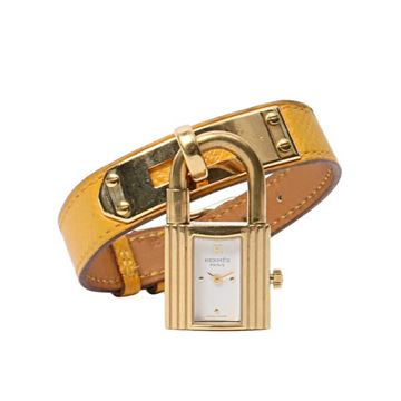Hermes Yellow Kelly Jaune d'Or Watch