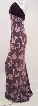 James Purcell 1990s Velvet and Silk Jersey Purple Strapless Gown