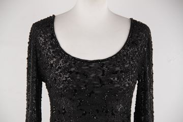 Valentino Couture Black Chiffon Beaded Top