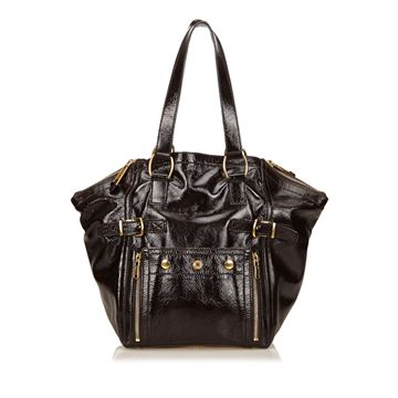 Yves Saint Laurent Brown Downtown Handbag
