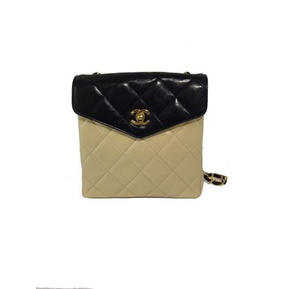 chanel-beigeblack-shoulder-bag
