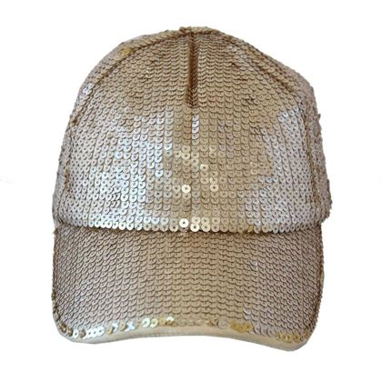 Blumarine Sequin Gold Cap