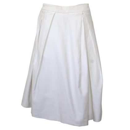 Acne Studios White Cotton Midi Skirt