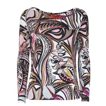 Emilio Pucci Long Sleeved Multicoloured Top