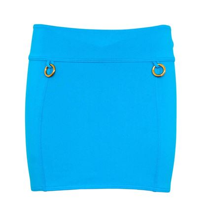 Hermes Bright Blue Vintage Mini Skirt