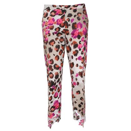 Blumarine Leopard Print Pink Cropped Trousers
