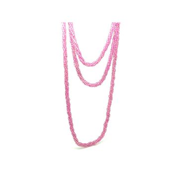 vintage-1940s-czech-pink-beaded-long-necklace