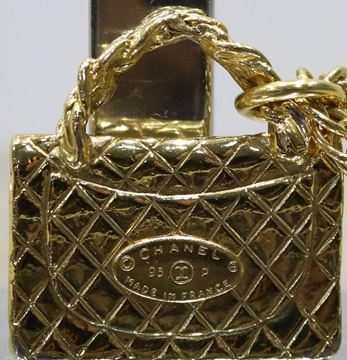 Chanel 1990s Classic Quilted Flap Bag Charm Pendant Necklace