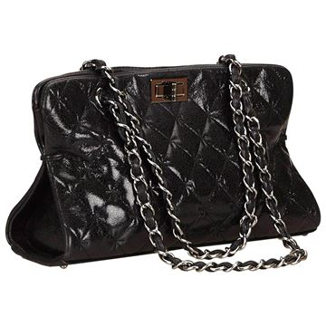 chanel-black-quilted-patent-reissue-255-chain-shoulder-bag