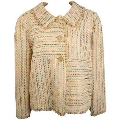 chanel-multi-coloured-34-sleeves-tweed-jacket
