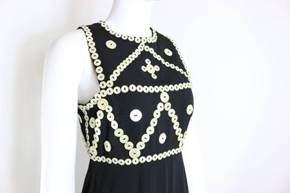 franck-sorbier-haute-couture-black-embroidered-mother-of-pearl-button-maxi-dress