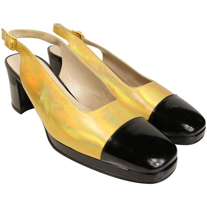 chanel-bi-tone-metallic-gold-with-black-patent-square-toe-mary-jane-slingback