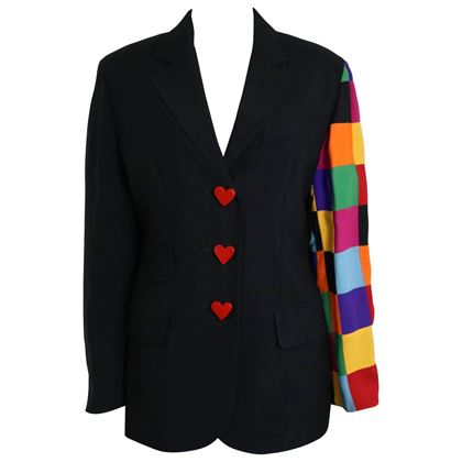 moschino-couture-black-with-multicolour-patchwork-sleeve-jacket