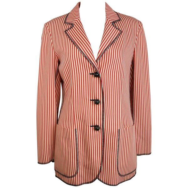 129d6d74c3 Moschino Cheap and Chic Red/White Striped Jacket