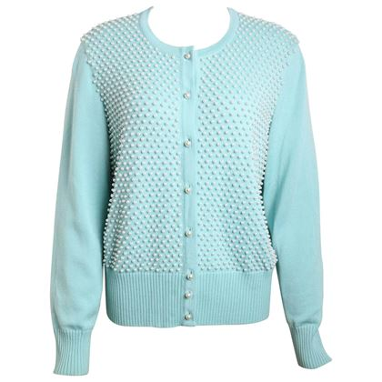 escada-mint-green-pearl-cardigan-sweater
