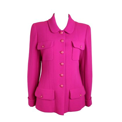 chanel-fuchsia-boucle-wool-jacket