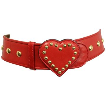moschino-red-leather-studded-heart-belt