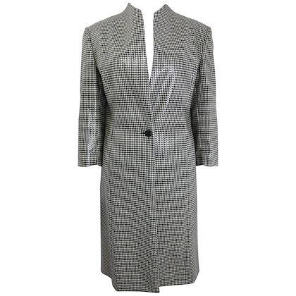 anteprima-black-and-white-houndstooch-wool-long-coat