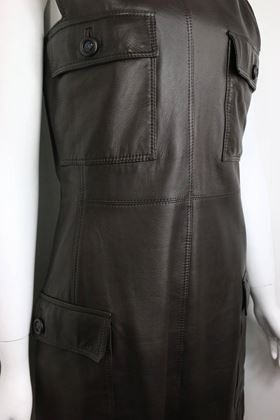 gianni-versace-brown-leather-dress