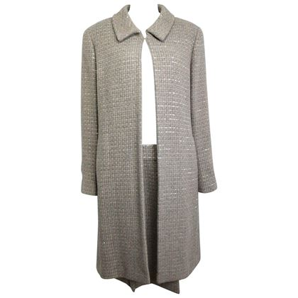 chanel-greycamel-tweed-coatskirt-ensemble-with-gold-and-silver-sequins