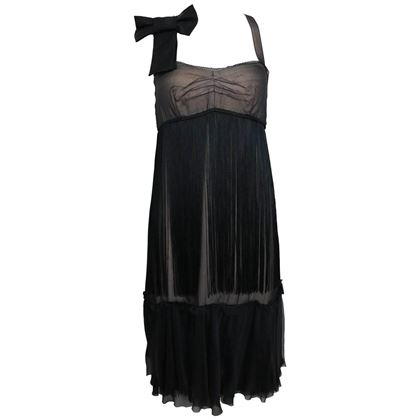 dg-by-dolce-gabbana-black-sheer-silk-cocktail-dress
