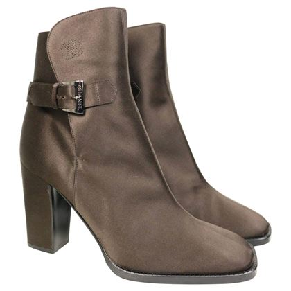 chanel-brown-satin-ankle-boots