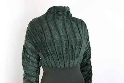 alaia-green-chenille-dress