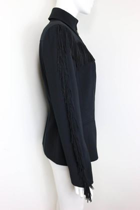 thierry-mugler-black-structured-shoulder-fringe-jacket
