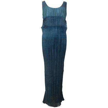 issey-miyake-blue-pleated-maxi-dress