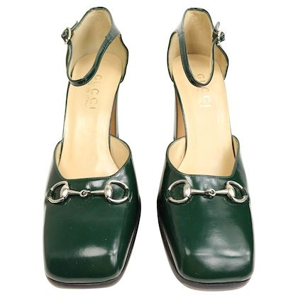 gucci-by-tom-ford-classic-green-leather-square-toe-strap-pumps
