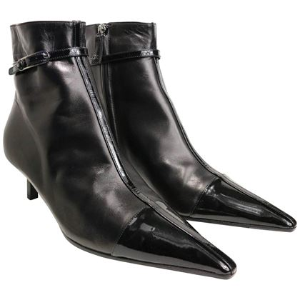 chanel-black-leather-pointy-ankle-boots