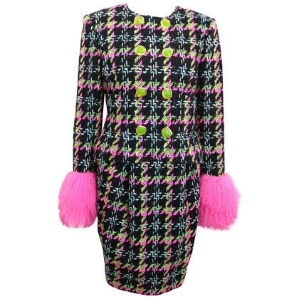 christian-lacroix-double-breasted-houndstooth-tweed-wool-suit-and-skirt-ensemble