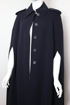 Gucci by Tom Ford Navy Wool Long Cape Coat