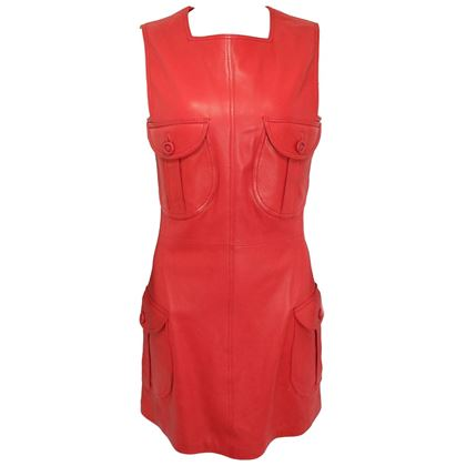 gianni-versace-red-leather-dress