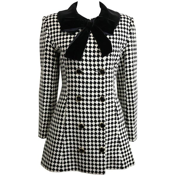 angelo-tarlazzi-double-breasted-black-and-white-harlequin-check-coat-with-bow
