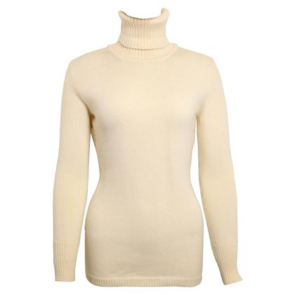 1996 Gucci by Tom Ford White Wool Turtleneck Top