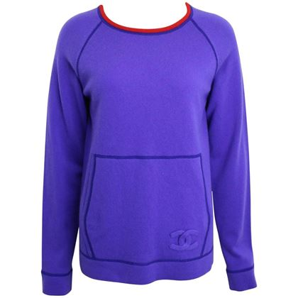 chanel-purple-with-red-trim-collar-pullover-cashmere-sweater