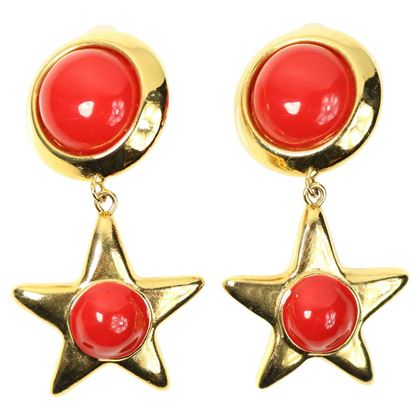 escada-gold-toned-hardware-red-round-and-star-shaped-drop-clip-on-earrings