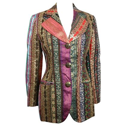 Dolce & Gabbana Multi Colour with Jacquard Patterns Embroidered Blazer