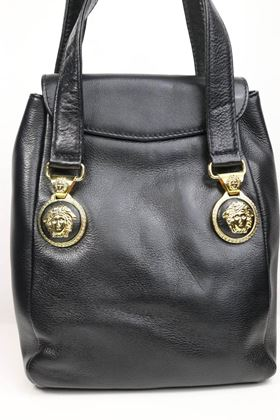 gianni-versace-black-leather-medusa-mini-handbag