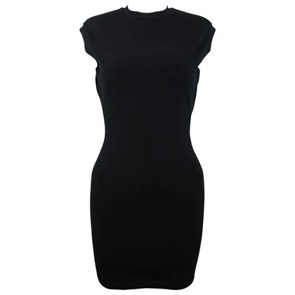 azzedine-alaia-black-jersey-body-conscious-sleeveless-mini-dress