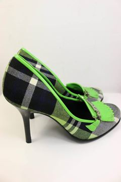 christian-dior-green-leather-plaid-fringe-pumps