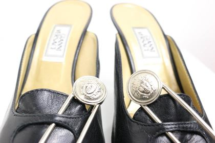 gianni-versace-black-leather-medusa-safety-pins-mules