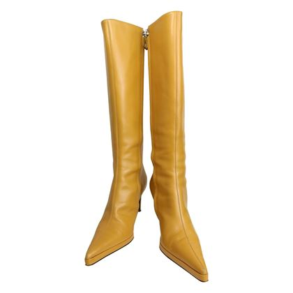 gianni-versace-camel-leather-long-boots