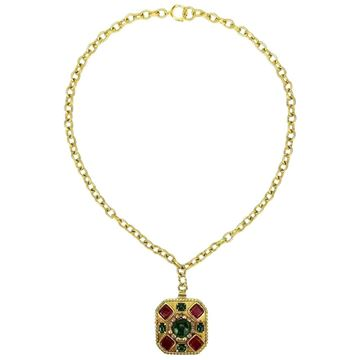 chanel-gripoix-glass-and-faux-pearl-square-pendant-gold-chain-necklace