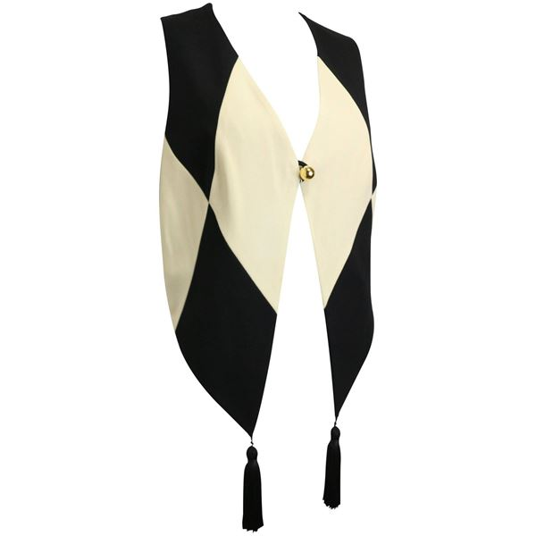 moschino-cheap-and-chic-black-and-white-harlequin-waistcoat-with-tassels