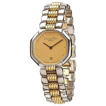 Christian Dior Diamond Studded Gold Tone Watch