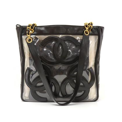 Chanel Transparent Vinyl Medium Tote Bag