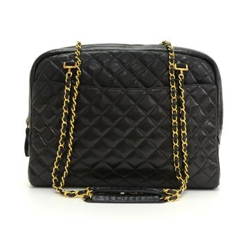 Chanel Black Quilted Lambskin Leather XL Tote Bag