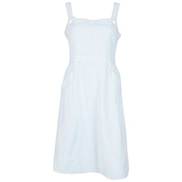 Courreges 1970s Vichy Cotton Light Blue Vintage Dress